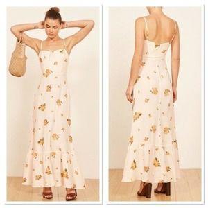 Reformation Prairie Constance Floral Maxi Dress